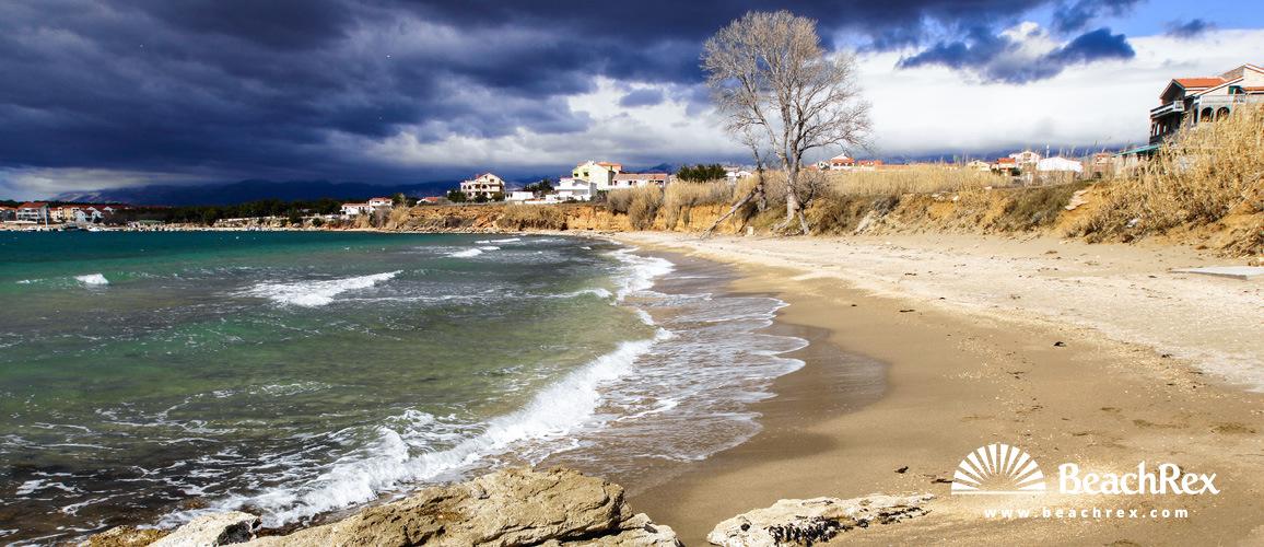 Croatia - Dalmatia  Zadar - Island Pag -  Povljana - beach Perilo