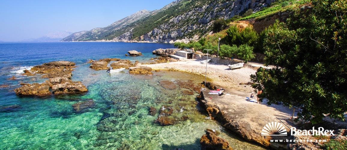 Croatia - Dalmatia  Dubrovnik -  Potomje - Beach Dingač