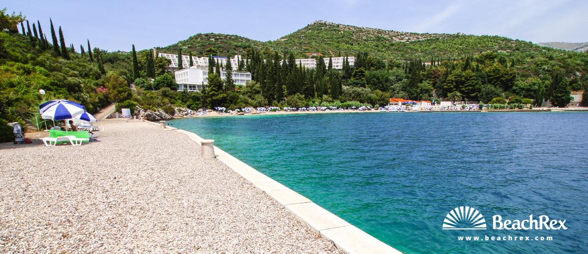 Croatia - Dalmatia  Dubrovnik -  Slano - Beach Osmine