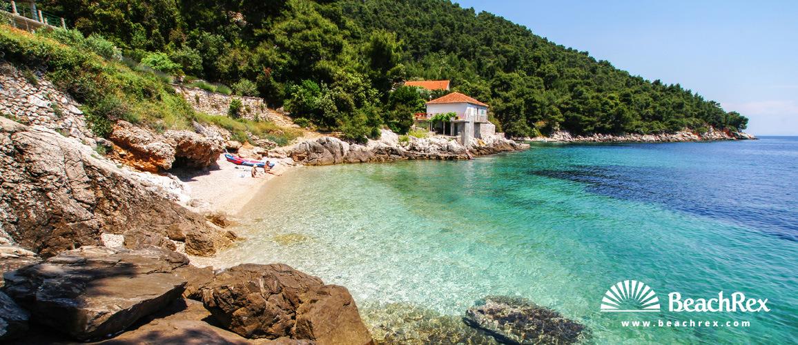 Hrvaška - Dalmacija  Split - Otok Hvar -  Gdinj - Plaža Rapak