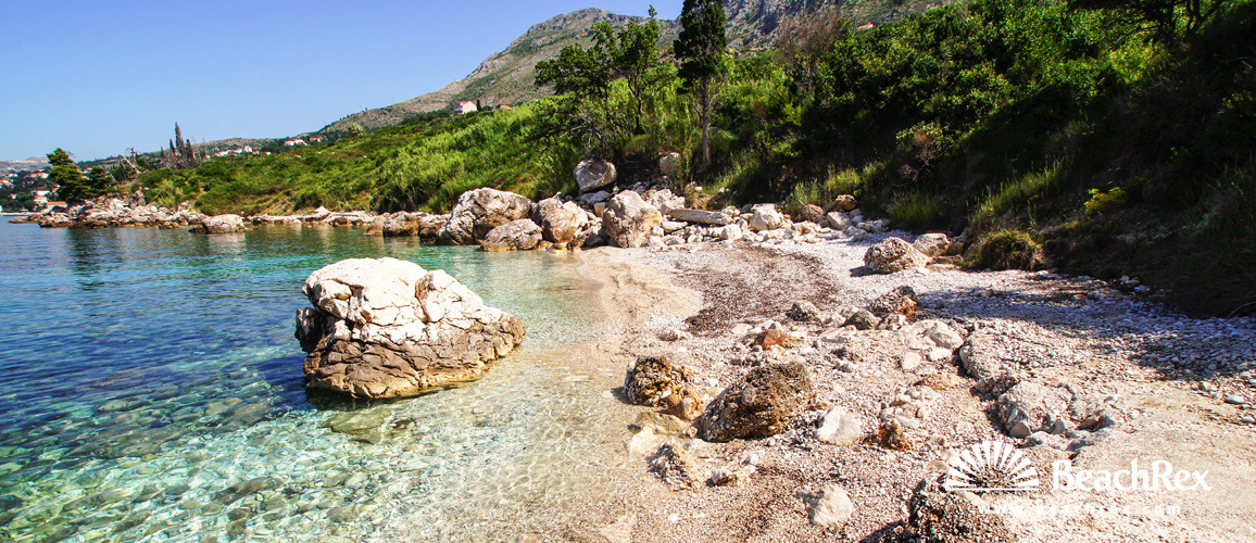 Croatia - Dalmatia  Dubrovnik -  Mlini - Beach Šiba