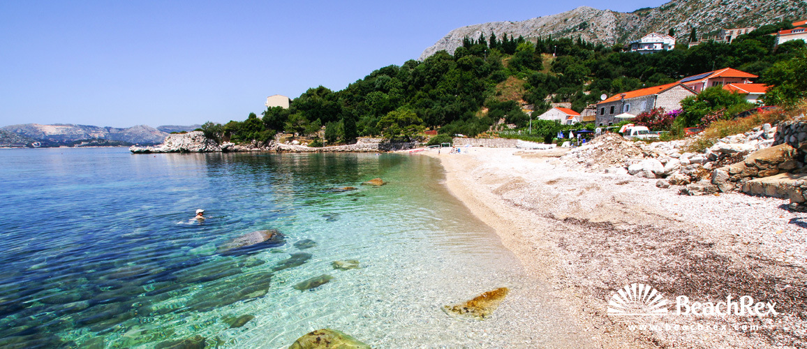 Croatia - Dalmatia  Dubrovnik -  Plat - Beach Leptirica