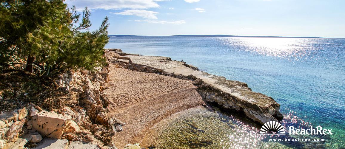 Hrvaška - Dalmacija  Zadar - Otok Pag -  Mandre - Plaža Mala Mandra