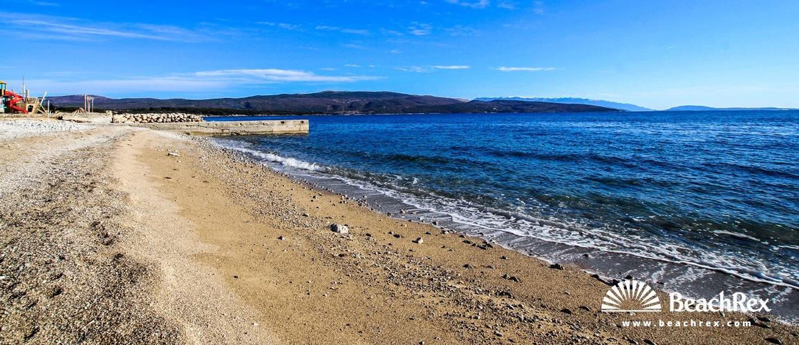 Hrvaška - Kvarner - Otok Krk -  Krk - Plaža Ježevac