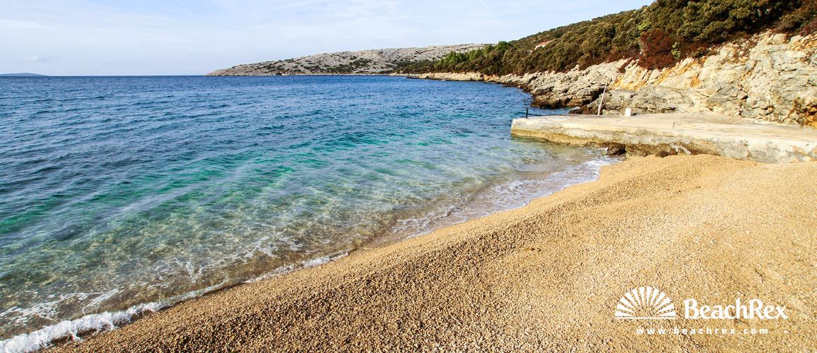 Kroatien - Kvarner - Insel Cres -  Ustrine - Strand Veli Žal