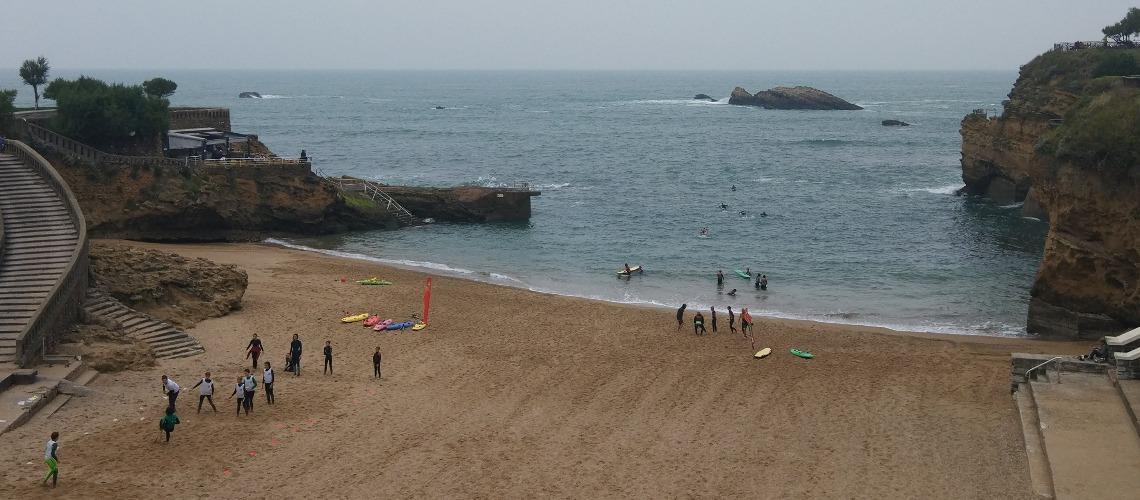 France - NouvelleAquitaine -  Biarritz - Plage du Port Vieux