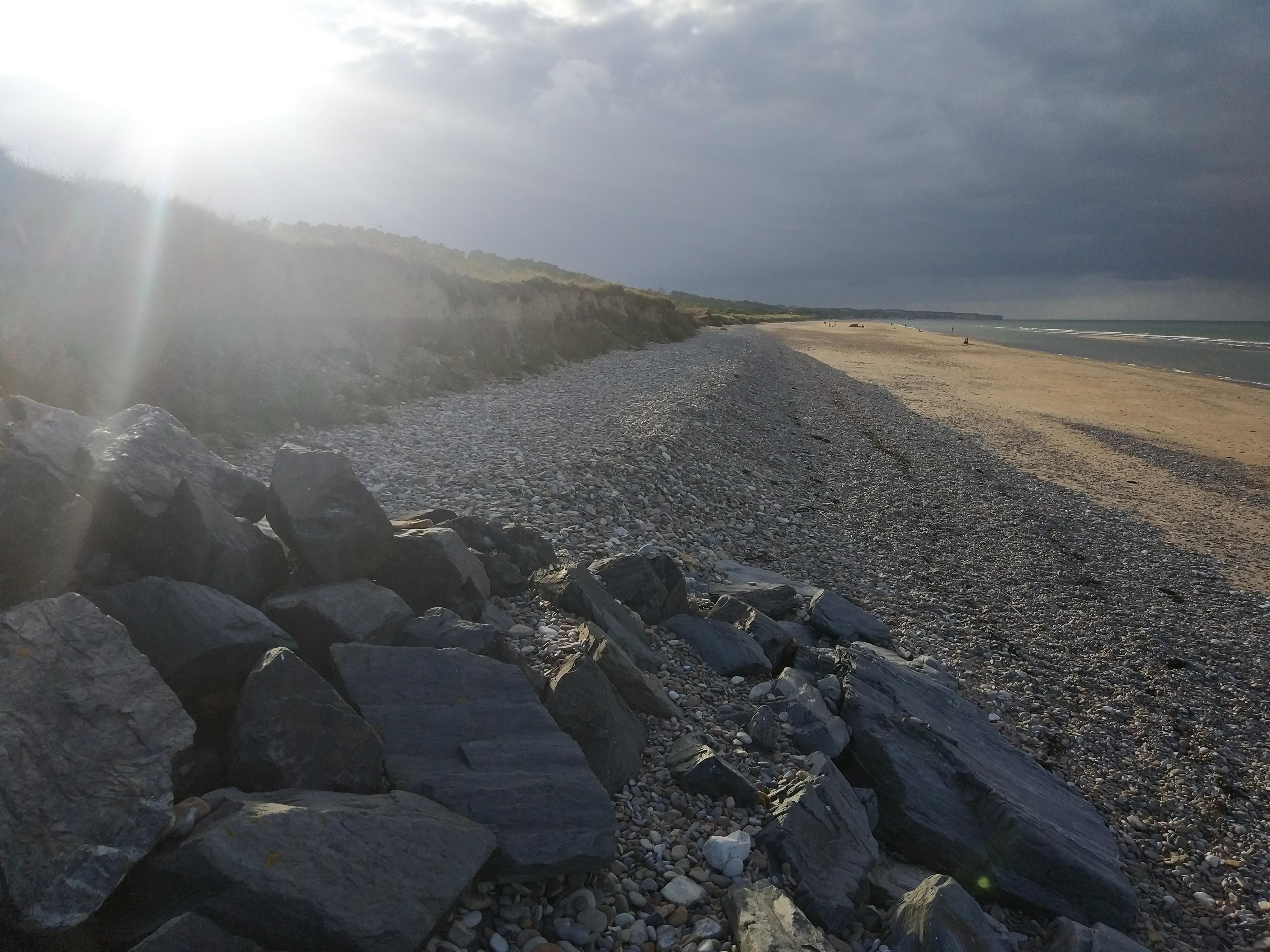 France - Normandie -  Colleville-sur-Mer - Plage Le Cavey