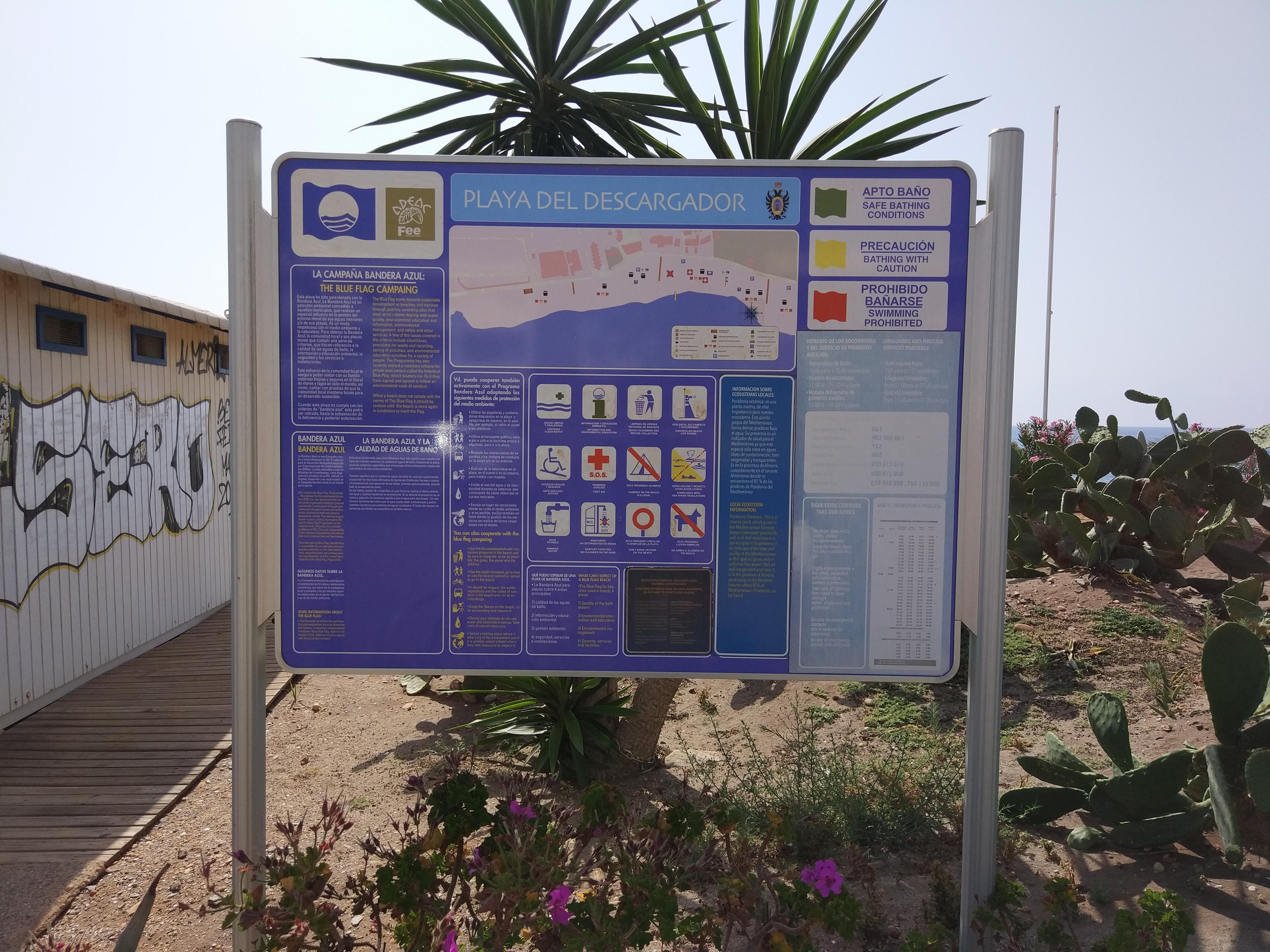 Spain - Andalucia -  Mojácar - Playa del Descargador