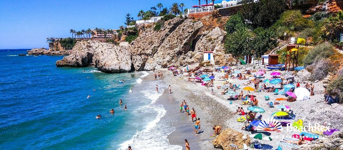Spain - Andalucia -  Nerja - Playa del Carabeo