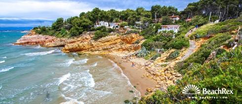 espagne - Camp de Tarragona -  Salou - Plage de la Penya Tallada