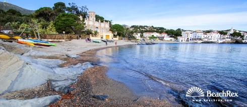 Spain - Comarques gironines -  Cadaqués - Beach Llané Petit