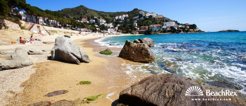 espagne - Comarques gironines -  Roses - Plage Canyelles