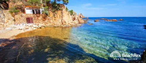 Spain - Comarques gironines -  Palafrugell - Beach d'Aigua Xelida