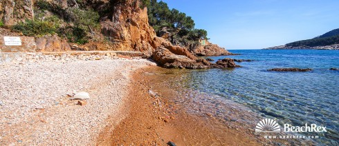 Spain - Comarques gironines -  Palafrugell - Beach d'Aigua Dolca