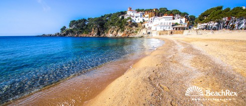 Spain - Comarques gironines -  Palafrugell - Beach Llafranc