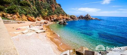 Spain - Comarques gironines -  Blanes - Beach Punta de Santa Anna