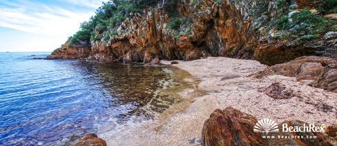 France - Var -  Bormes-les-Mimosas - Beach du Cap