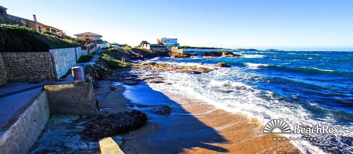 France - Var -  Six-Fours-les-Plages - Beach le Rayolet Parc