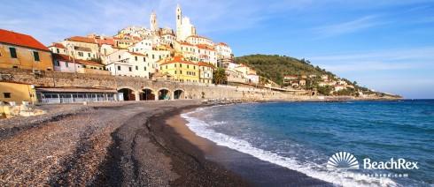 Italy - Liguria -  Cervo - Beach Cervo