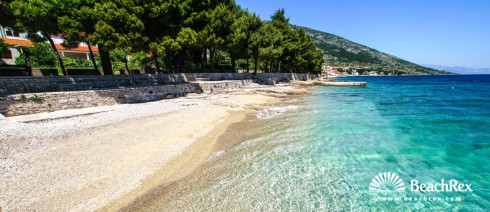 Croatia - Dalmatia  Split - Island Brač -  Bol - Beach Čempresa