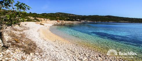 Croatia - Dalmatia  Split - Island Vis -  Rukavac - Beach Tepluš