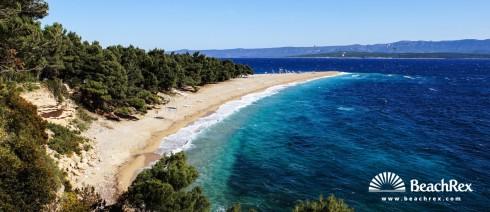 Hrvatska - Dalmacija  Split - Otok Brač -  Bol - Plaža Zlatni Rat