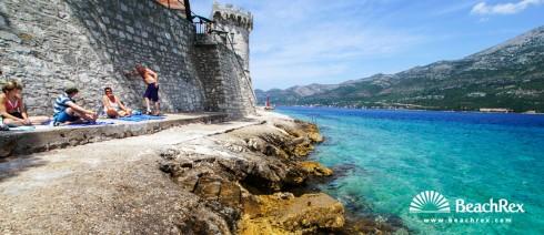 Hrvatska - Dalmacija  Dubrovnik - Otok Korčula -  Korčula - Plaža Puntin