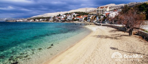 Croatia - Dalmatia  Zadar - Island Pag -  Pag - Beach Ante Starčevića