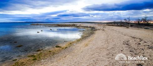 Croatia - Dalmatia  Zadar - Island Pag -  Košljun - Beach Košljun