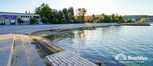 Slovenia - Obalno kraška -  Izola - beach Delfin