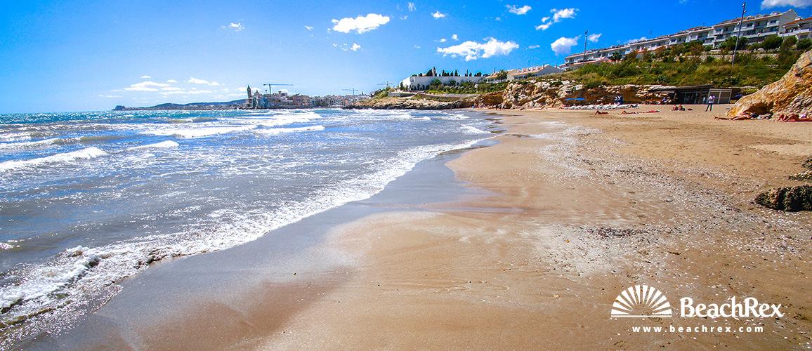 Spain - Àmbit metropolità -  Sitges - Beach Els Balmins