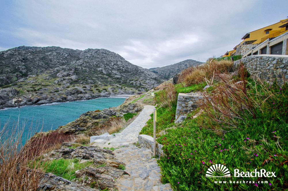 Spain - Comarques gironines -  El Port de la Selva - Beach Tamariua