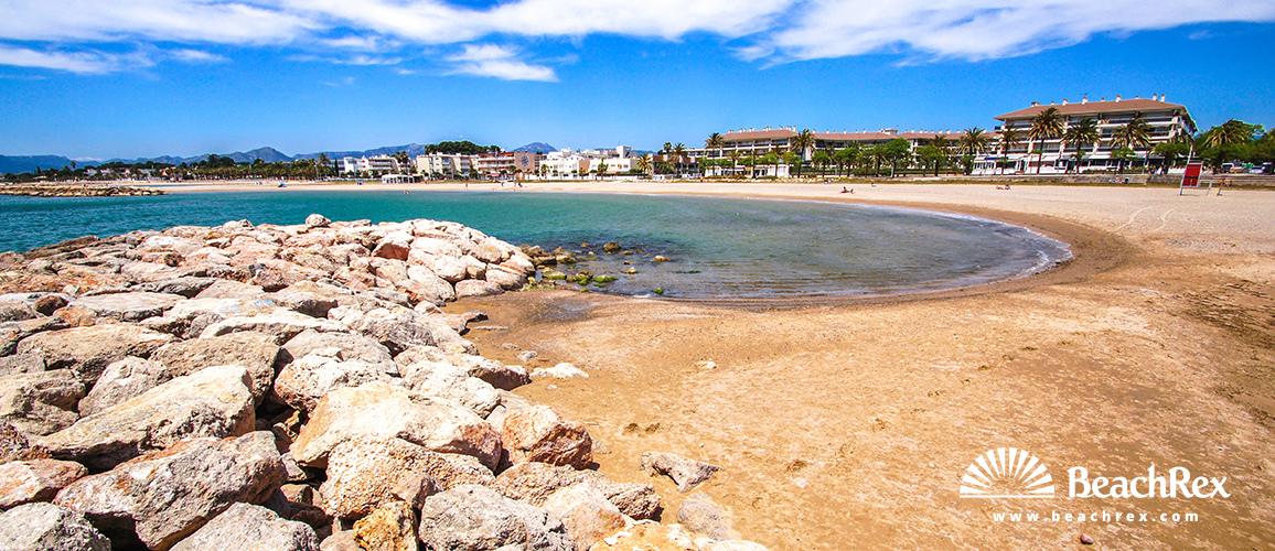 Beach De La Llosa Cambrils Camp De Tarragona Spain Beachrex Com