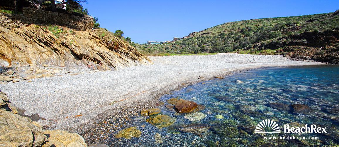 Spain - Comarques gironines -  Cadaqués - Beach S'Alqueria Gran