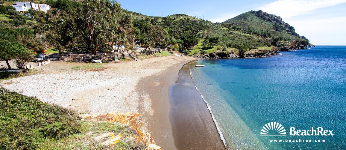 Spain - Comarques gironines -  Roses - Beach Pelosa