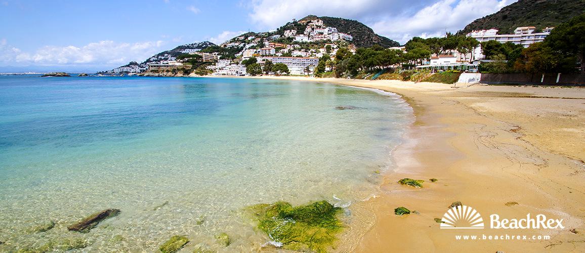 Spain - Comarques gironines -  Roses - Beach Almadrava