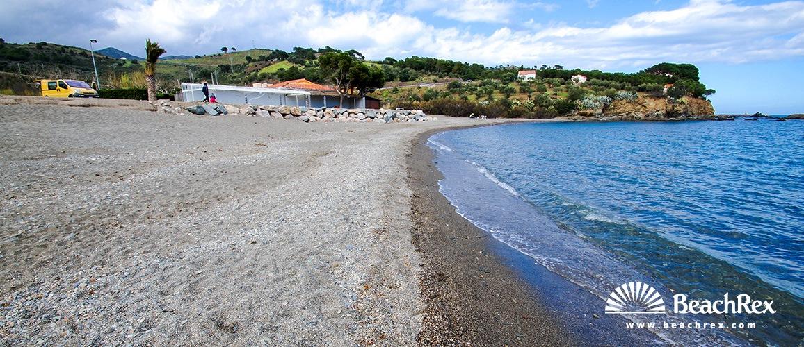 Spain - Comarques gironines -  Colera - Beach de Garbet