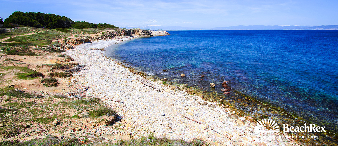 Spain - Comarques gironines -  L'Escala - Beach del Bol Roig