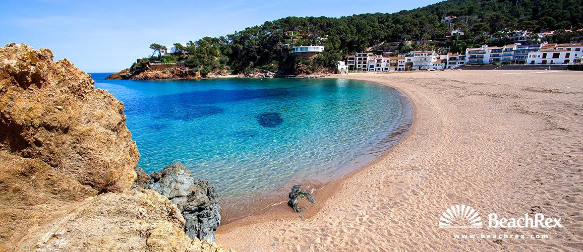 Spain - Comarques gironines -  Begur - Beach Sa Riera