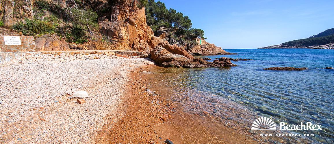 Spain - Comarques gironines -  Palafrugell - Beach d'Aigua Dolca