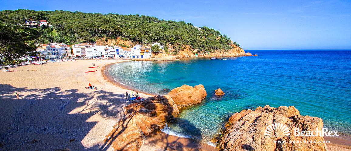 Spain - Comarques gironines -  Palafrugell - Beach Tamariu