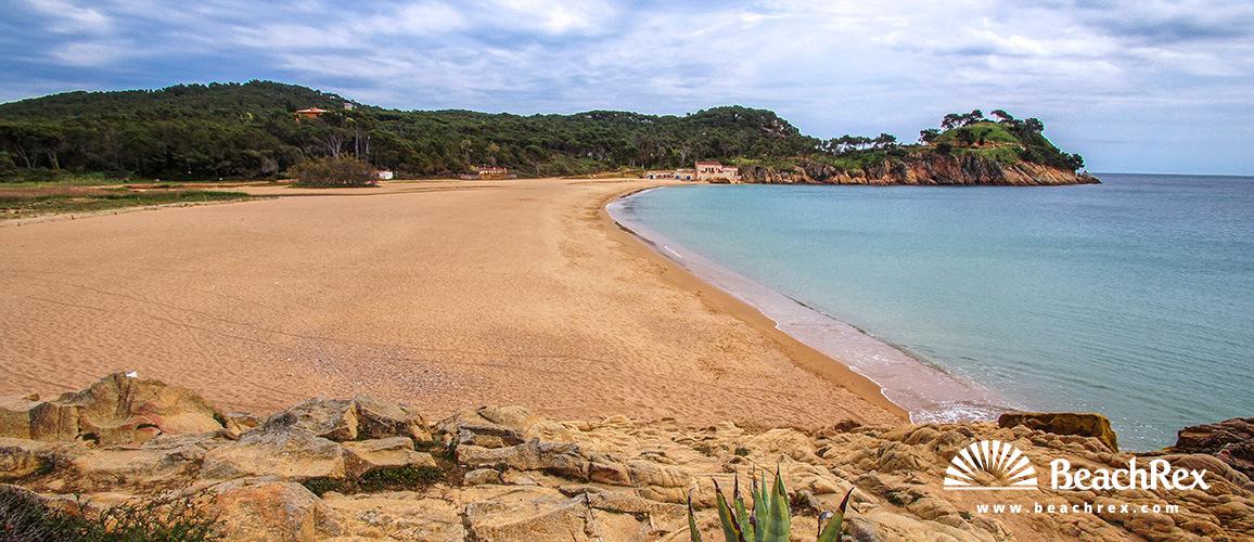 Spain - Comarques gironines -  Palamós - Beach El Castell