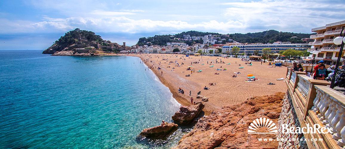 Spain - Comarques gironines -  Tossa de Mar - Beach Gran