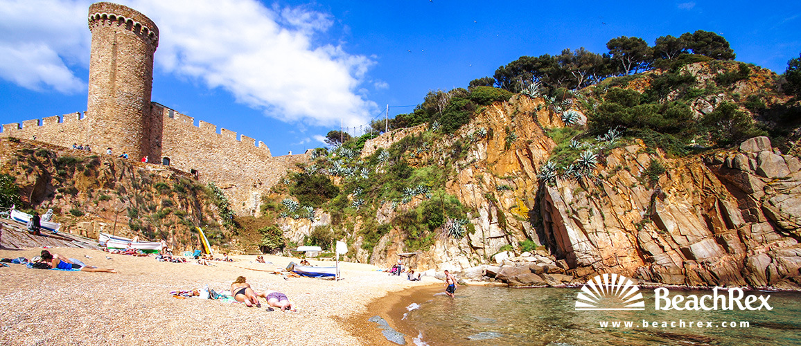 Španjolska - Comarques gironines -  Tossa de Mar - Plaža Es Codolar