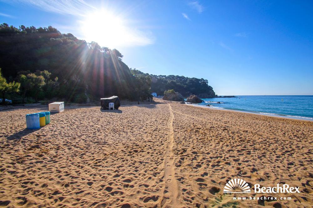 Spain - Comarques gironines -  Lloret de Mar - Beach Rajols