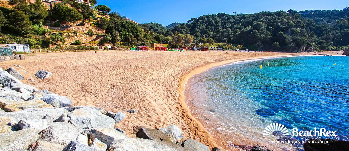 Spain - Comarques gironines -  Lloret de Mar - Beach Canyelles