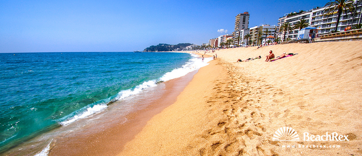 Spain Comarques Gironines Lloret De Mar Beach