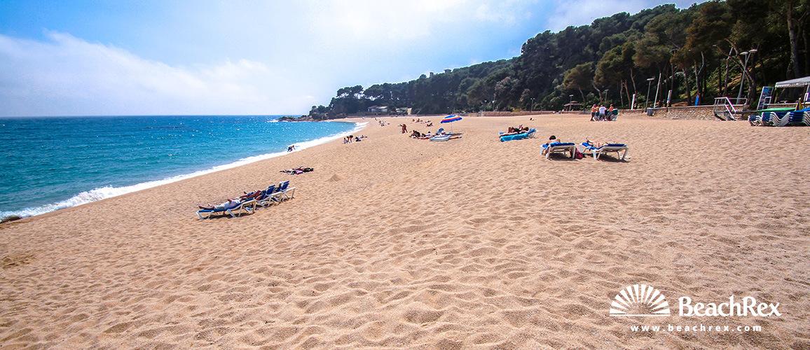 Spain - Comarques gironines -  Lloret de Mar - Beach de Fenals