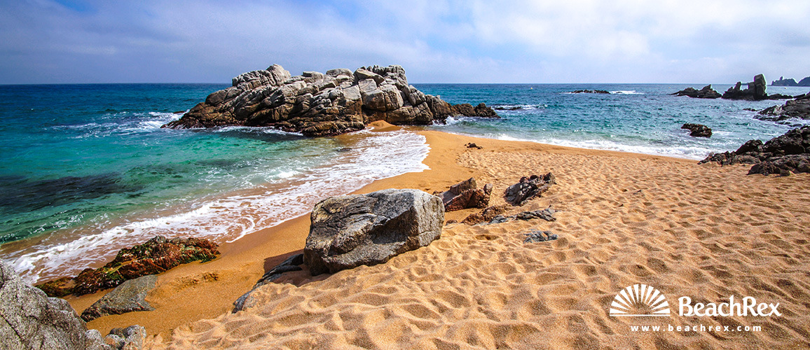Spain - Comarques gironines -  Lloret de Mar - Beach La Boadella