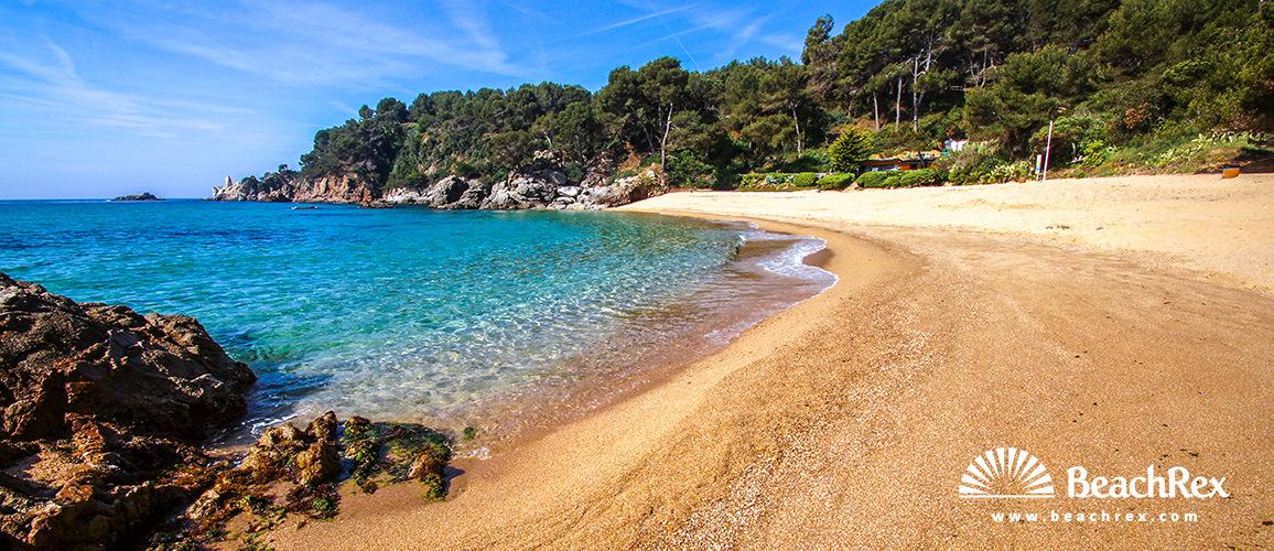 Spain - Comarques gironines -  Lloret de Mar - Beach de St Cristina & Treumal